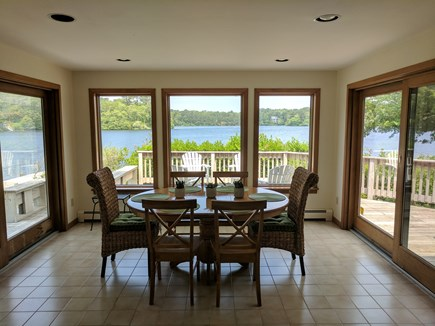 Harwich Cape Cod vacation rental - Dining room with an open floor plan. Views from every window.
