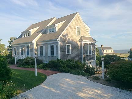 Chatham Cape Cod vacation rental - Front of home facing south with views of Nantucket Sound