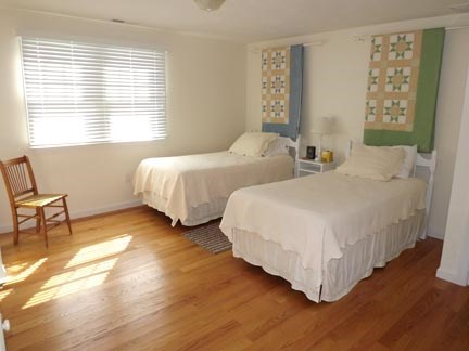 Chatham Cape Cod vacation rental - Second floor twin bedroom with views.