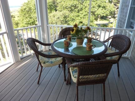 Chatham Cape Cod vacation rental - Screened-in porch with dining table.