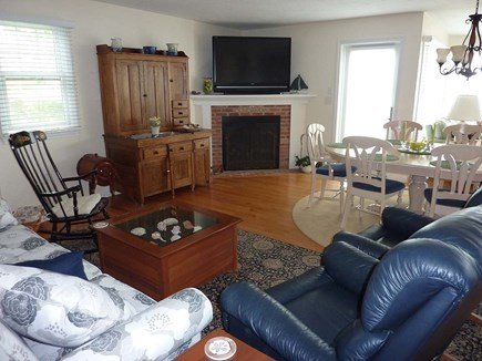 Chatham Cape Cod vacation rental - Living room with TV and views.