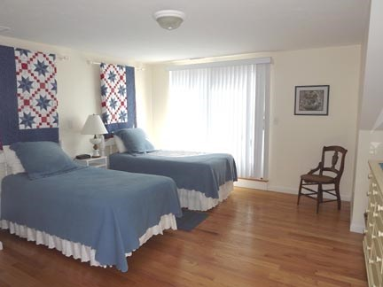 Chatham Cape Cod vacation rental - Second floor twin bedroom with bathroom en suite and deck.