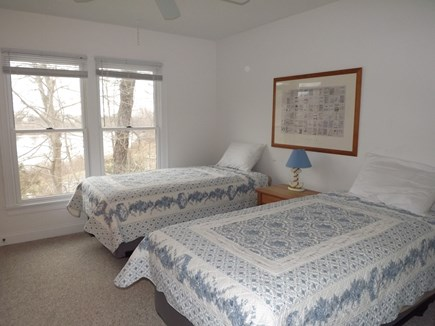 Chatham Cape Cod vacation rental - First Floor Twin Bedroom with View of Pond.