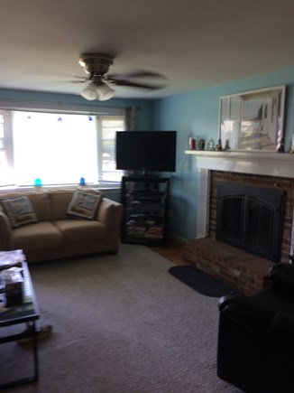 West Yarmouth Cape Cod vacation rental - Living room seating for six.