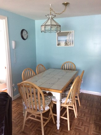 West Yarmouth Cape Cod vacation rental - Dining seating for six.