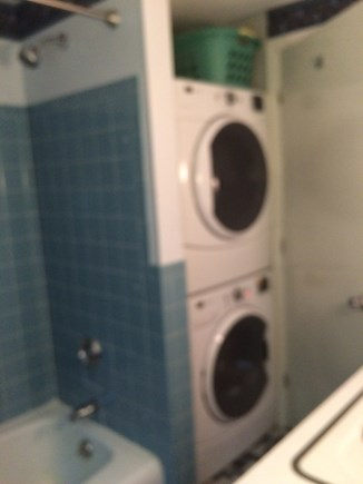 West Yarmouth Cape Cod vacation rental - Washer and Dryer in bathroom 1.