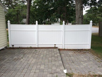 West Yarmouth Cape Cod vacation rental - Privacy fence on deck.
