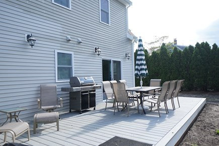 Hyannis Cape Cod vacation rental - Huge deck is a favorite place to get together...