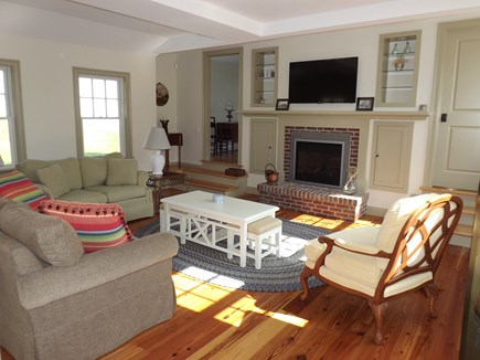 Chatham Cape Cod vacation rental - Living room open to dining and kitchen.