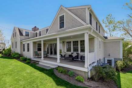 Chatham Cape Cod vacation rental - Side of Home With Porch Facing the Ocean (East) With Views