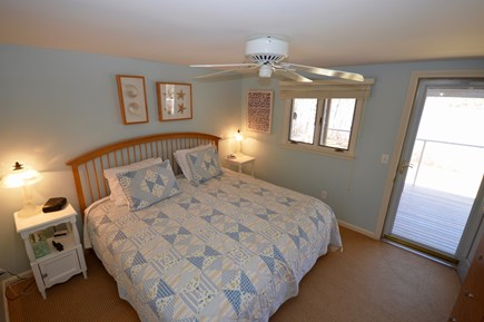 Orleans Cape Cod vacation rental - Main level Queen Bedroom, walk out to deck
