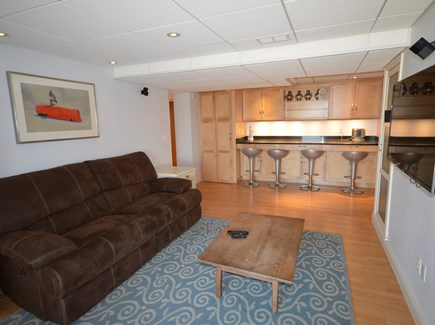 Orleans Cape Cod vacation rental - Lower level living room with slider to back yard and lake