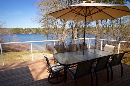 Orleans Cape Cod vacation rental - Outdoor water view with dining for 8