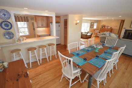 Orleans Cape Cod vacation rental - Main Level Dining Room Farmhouse Style Table for 8
