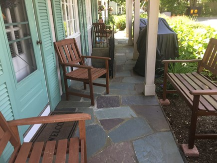 harwichport Cape Cod vacation rental - Sitting area at entrance