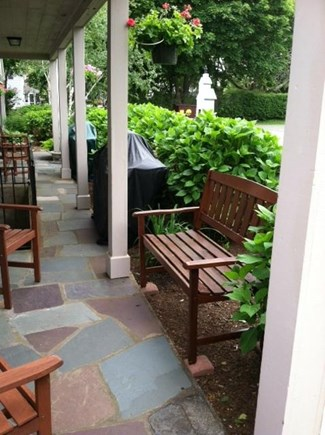 harwichport Cape Cod vacation rental - Sitting area outside entry