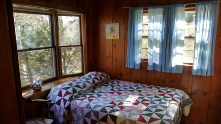 South Chatham Cape Cod vacation rental - Room with double bed and bay window