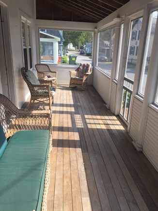 Harwichport Cape Cod vacation rental - Screened in porch runs the full front of our home