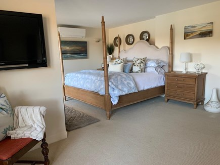 Falmouth Cape Cod vacation rental - King Master Suite #1 w/sitting area, water views, slider to deck