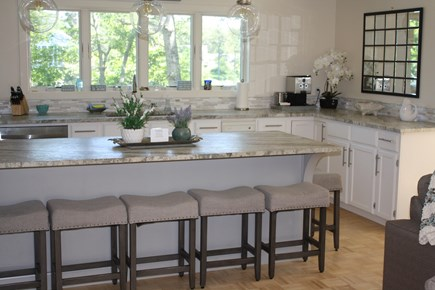 Falmouth Cape Cod vacation rental - Large open concept kitchen with entertaining island & water views