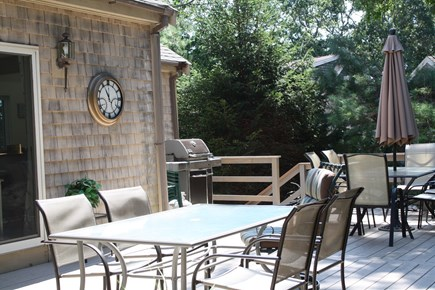 Falmouth Cape Cod vacation rental - Dining deck for grilling and outdoor entertaining
