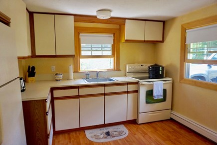 North Falmouth Cape Cod vacation rental - Fully equipped kitchen with microwave and coffee pot