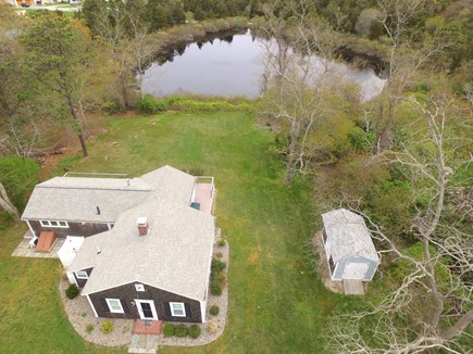 Orleans Cape Cod vacation rental - Aerial view of Home and Kettle Pond