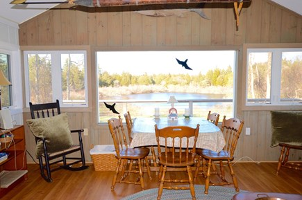 Orleans Cape Cod vacation rental - Kettle Pond views right outside the Great Room