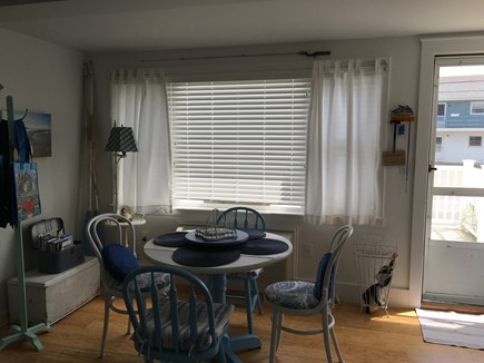 Dennisport Cape Cod vacation rental - Picture window overlooks the deck and the ocean!