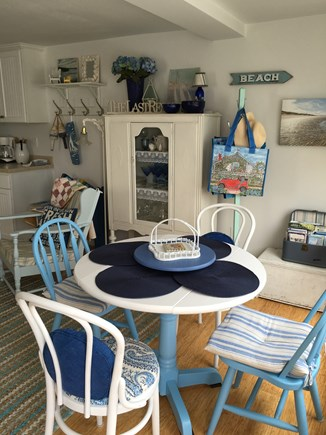 Dennisport Cape Cod vacation rental - Table for four looks out over the ocean.