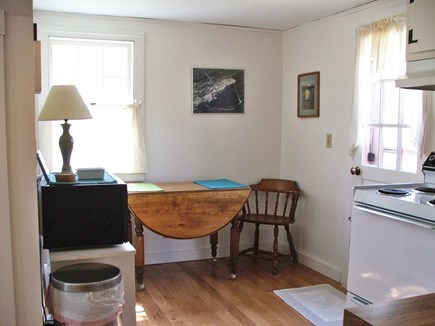 Near Coast Guard Beach Eastham Cape Cod vacation rental - Kitchen with back door to the deck