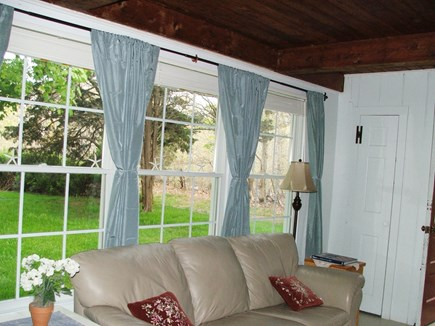 Near Coast Guard Beach Eastham Cape Cod vacation rental - Living Room windows facing south/front offer light and openness