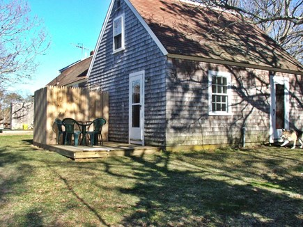 Near Coast Guard Beach Eastham Cape Cod vacation rental - From the west side with deck, grill, & outdoor shower