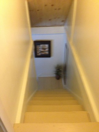 Near Coast Guard Beach Eastham Cape Cod vacation rental - Looking down the stairs