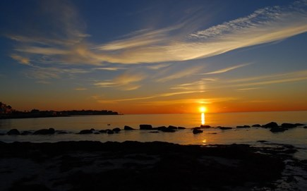 Falmouth Cape Cod vacation rental - Sunset at Surf Drive Beach