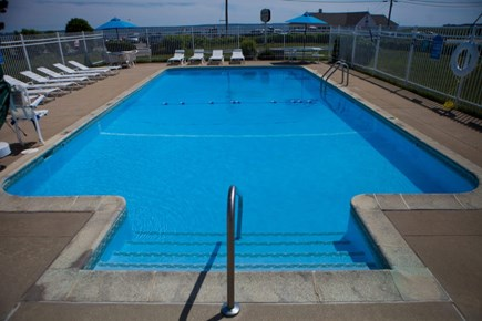 Falmouth Cape Cod vacation rental - Pool with ocean/beach in the distance