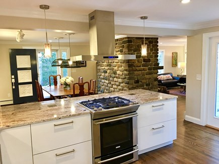 Marstons Mills Marstons Mills vacation rental - Kitchen overlooking dining room, fireplace, and livingroom.