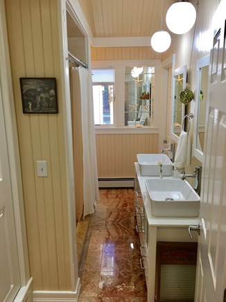 Marstons Mills Marstons Mills vacation rental - Main bathroom first floor, adjoined with (red) master bedroom.