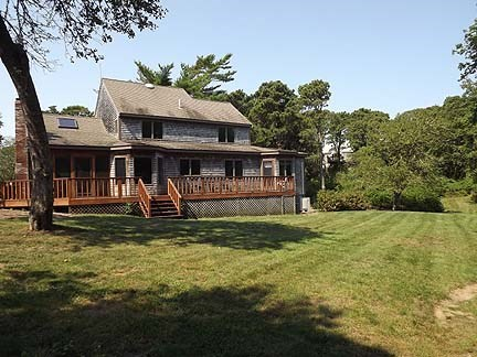 Chatham Cape Cod vacation rental - Back of the house with large yard abutting conservation.