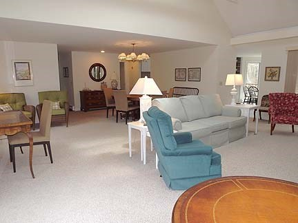 Chatham Cape Cod vacation rental - Another view of living area with TV.