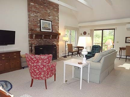 Chatham Cape Cod vacation rental - Large cathedral ceilinged living room