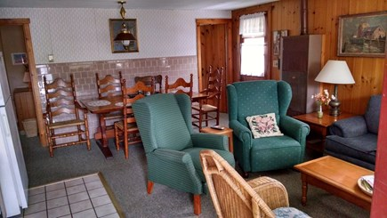 Dennisport Cape Cod vacation rental - Living room and dining area