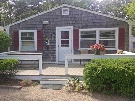 Dennisport Cape Cod vacation rental - Front deck and entrance