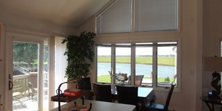 South Yarmouth Cape Cod vacation rental - Eating with a view