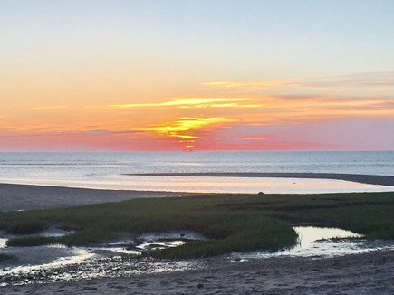 East Orleans Cape Cod vacation rental - Skaket Beach Sunset, a nightly tradition for many (photo: owner)