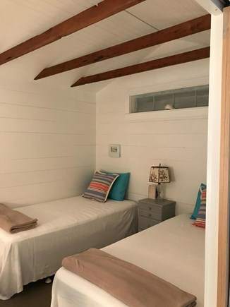 East Orleans Cape Cod vacation rental - Airy twin bedroom with windows that open onto screened porch.