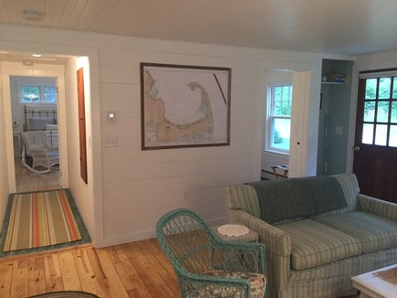 East Orleans Cape Cod vacation rental - Cozy living room with original pine floors
