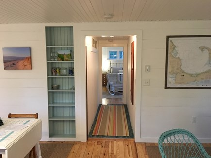 East Orleans Cape Cod vacation rental - Hallway leading to the private master bedroom and bath.