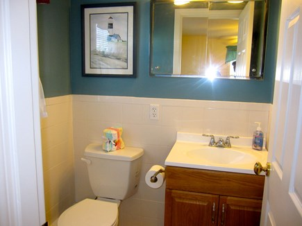 West Dennis Cape Cod vacation rental - 1/2 bath in queen bedroom