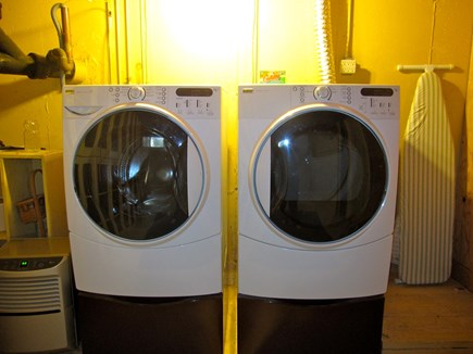 West Dennis Cape Cod vacation rental - Washing and dryer downstairs